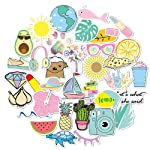 Volwco 35Pcs Water Bottles Stickers, Waterproof Summer Cute Stickers 100% Vinyl for Teens Girls Perfect for Water Bottle...