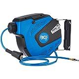 BGS 3297 | Persluchtslang met haspel | automatisch | 10 m + 1,5 m voedingskabel | 180 ° schenkbaar | incl. montagehouder | sl