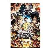 ملصق مطبوع عليه Attack on Titan Anime مقاس 60 سم x 90 سم
