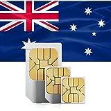Australien & Neuseeland Prepaid SIM + 12GB schnelles mobiles Internet & int. Tel. für 30 Tage