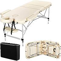 Yaheetech Table de Massage Pliante Professionnelle 70 x 213 cm 3 Section avec Pied en Aluminium Lit de Massage Portable…