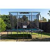 Jumpking 12ft x 8ft Deluxe rechthoekige trampoline met behuizing (JKDR812B18)