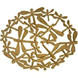 De Kulture Works Metal Decorative Butterfly Centerpiece Tray for Home Decor (Gold, 7.0x1.0 DH Inch)