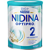 Nestlé Nidina Optipro 2 da 6 Mesi Latte di Proseguimento in polvere latta 800 g