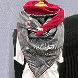 SJYM Fashion Women Soild DOT Stampa Pulsante Soft Wrap Casual Sciarpe Calde Scialli Sciarpa Sciarpa Donna, S, Taglia Unica