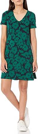 Amazon Essentials Damen Short-sleeve V-neck Swing Kleid