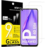 NEW'C 2-Stuks, Screen Protector voor Huawei P40 Lite 4G, Gehard Glass Schermbeschermer Film 0.33 mm ultra transparant, ultra