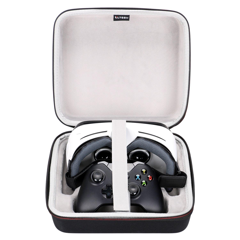 LTGEM Case pour Samsung Gear VR et Xbox One Controller ou SONY PS4 Controller-Black