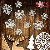 5 Stück Weihnachten Deko Schneeflocken Weihnachtsbaumdeko Baumschmuck Anhänger