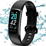 TEMINICE Monitor de Actividad física con Monitor de Ritmo cardíaco y sueño, Contador de calorías de Banda Inteligente, Contad