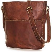 Nama 'Isabell' Ümhängetasche Shopper Echtes Leder Handtasche für Damen Vintage Look Beutel Tasche Schultertasche…