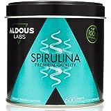 Spirulina Biologica Premium per 18 mesi | 600 compresse da 500 mg con Spirulina BIO al 99% | Vegan - Saziante - DETOX - Prote