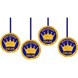 WoW Party Studio Personalized Royal Prince Theme Ceiling Hangings/ Danglers with Birthday Boy/Girl Name (12 Pcs)