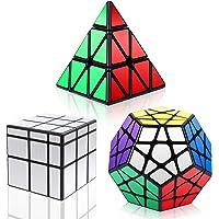 YKL World Ensemble de Cubes Pyraminx , Megaminx , Mirror 3 Pack Puzzle Cube Set