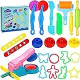 aovowog Outils de Pâte À Modeler Play doh Moules Kit pour Argile Pâte à Modeler 22 pièces Smart Dough Tools avec Extrudeuses(