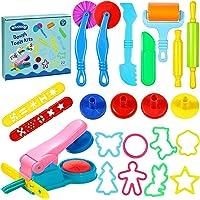 aovowog Outils de Pâte À Modeler Play doh Moules Kit pour Argile Pâte à Modeler 22 pièces Smart Dough Tools avec…