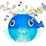 MOOKLIN ROAM Juguetes de Baño Ballena, Juguetes para el Agua, Juguetes de Burbujas de Bañera Portatil Juguetes Reflejo con 12