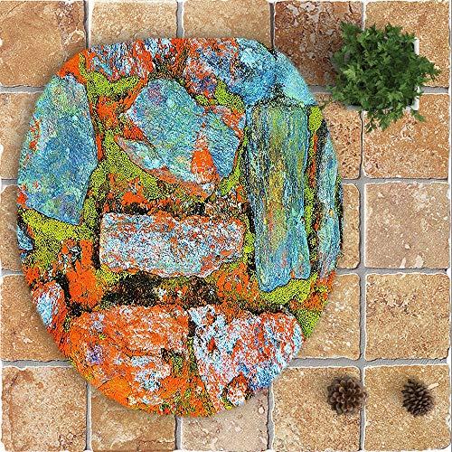 HOLD HOLD Badezimmerteppich-Set, 3-teilig, Wald-Design, Baum-Blumen-Duschmatte, WC-Vorleger, Fußmatte und WC-Deckel-Abdeckung, schnelltrocknend, super saugfähiger Teppich Medium J