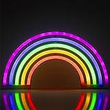 ZWOOS Neonlicht für Schlafzimmer - LED Leuchtschilder angetrieben von Batterie oder USB - Neonschild für Wand - Leuchtreklame