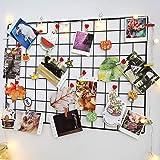 Rejilla de Hierro Foto Decoración de la Pared, Estante Decorativo de Hierro,Paneles de Rejilla, multifunción Estantería Grid
