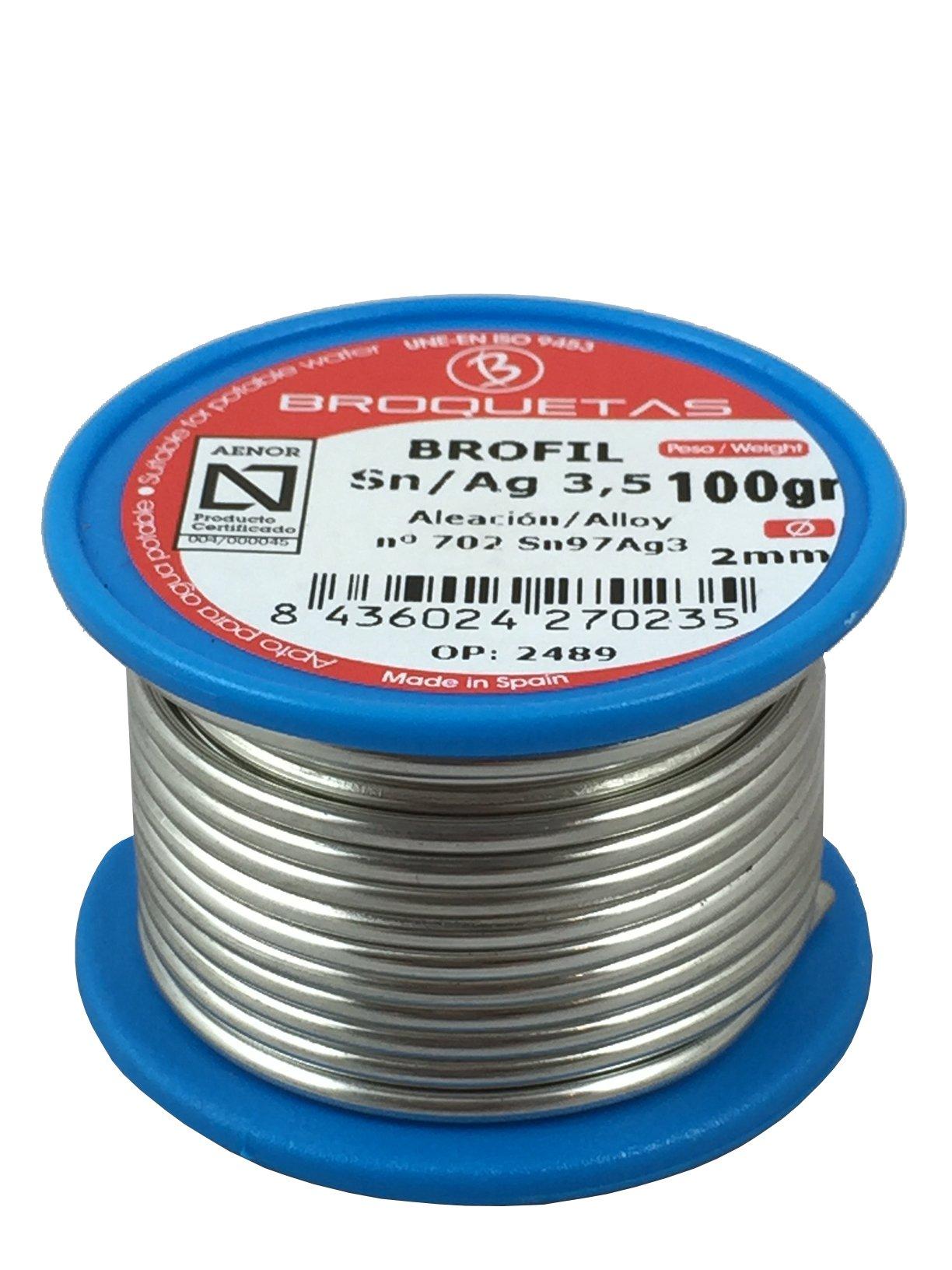 Brofil Hilo estaño Plata 3.5 Sn AG 100g Carrete