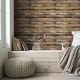 Homya wood grain wallpaper self-adhesive wallpaper 45 * 600cm PVC bedroom, living room, wall, decorative furniture renovation