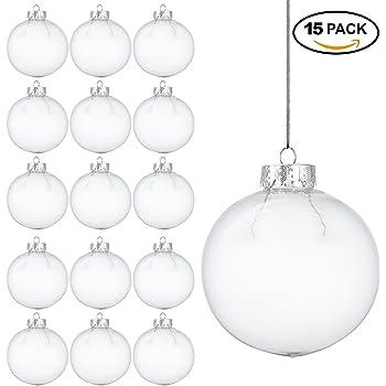 15 weihnachtskugeln aus transparentem kunststoff bef llbare diy christbaumkugeln aus plastik. Black Bedroom Furniture Sets. Home Design Ideas