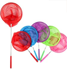 Toyvian 85cm Bugs Catching Net | Insect Butterfly Catcher, Telescopic Stainless Steel, Pack of 6
