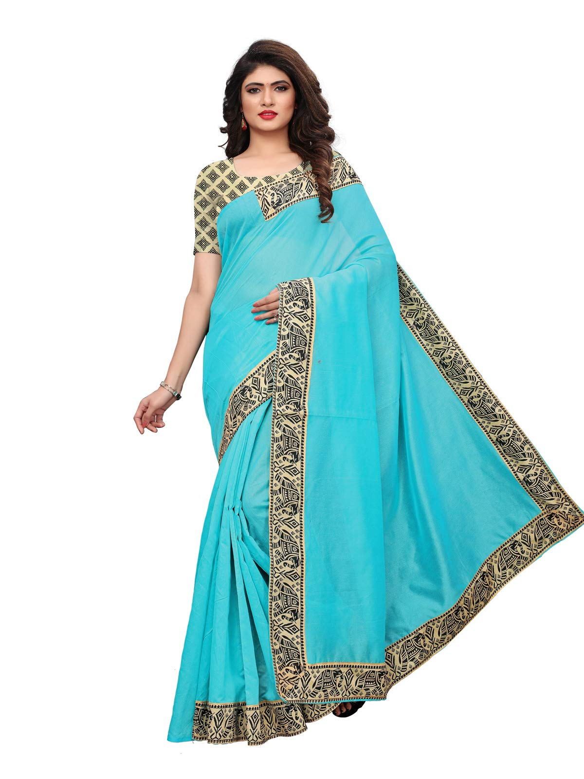 Kanchnar Women's Chanderi Silk Saree