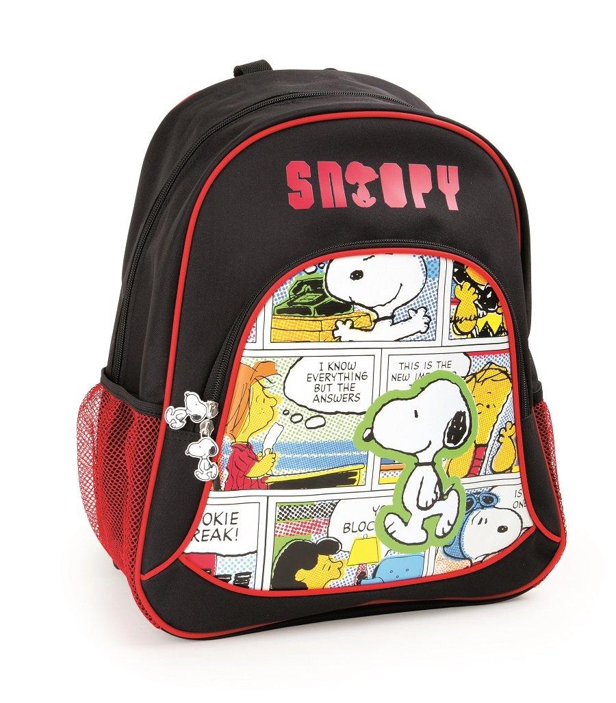 716u5u6ZgwL - Mochila escolar Snoopy para niños mochila mochila escolar | incluye dos bolsillos de malla a los lados y mucho espacio de almacenamiento | acolchado óptimo de las correas de transporte | tamaño aprox