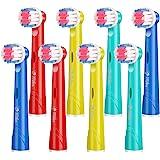 Milos Testine per Spazzolino Elettrico per Bambini/Confezione da 8 Testine per Spazzolino Oral B Compatibili/Testine per Spaz