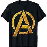 Marvel Avengers Gold Foil Chest Logo T-Shirt