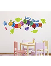 Luke and Lilly Numbers,1,2,3 Design Vinyl Wall Sticker (115 * 45cm)