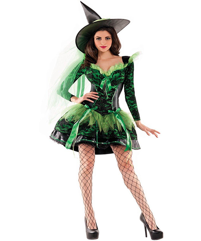 LaLaAreal Disfraz Bruja Reina de Corazones Mujer para Halloween, Carnaval