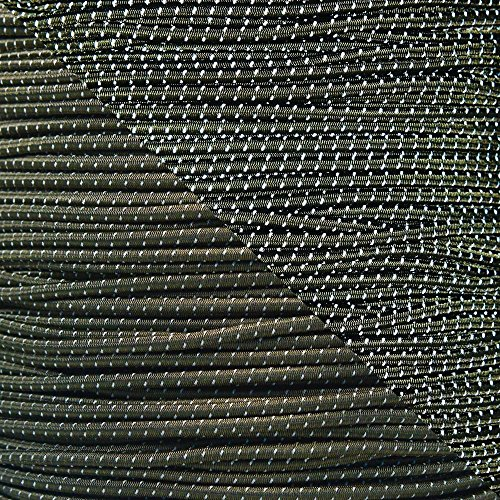 """Reflective Shock Cord 1/8\"""" Diameter Elastic Bungee Cord in Various Colors & Lengths Made in the USA"""