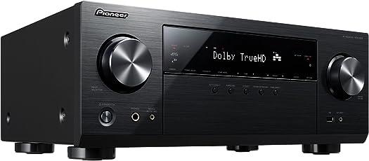Pioneer 5.1 Kanal AV Receiver, VSX-832-B, Hifi Verstärker 130 Watt/Kanal, Multiroom, WLAN, Bluetooth, Hi-Res Audio, Streaming, Dolby TrueHD-DTS:X, Musik Apps (Spotify, Tidal, Deezer), Internetradio, Schwarz, 2500059