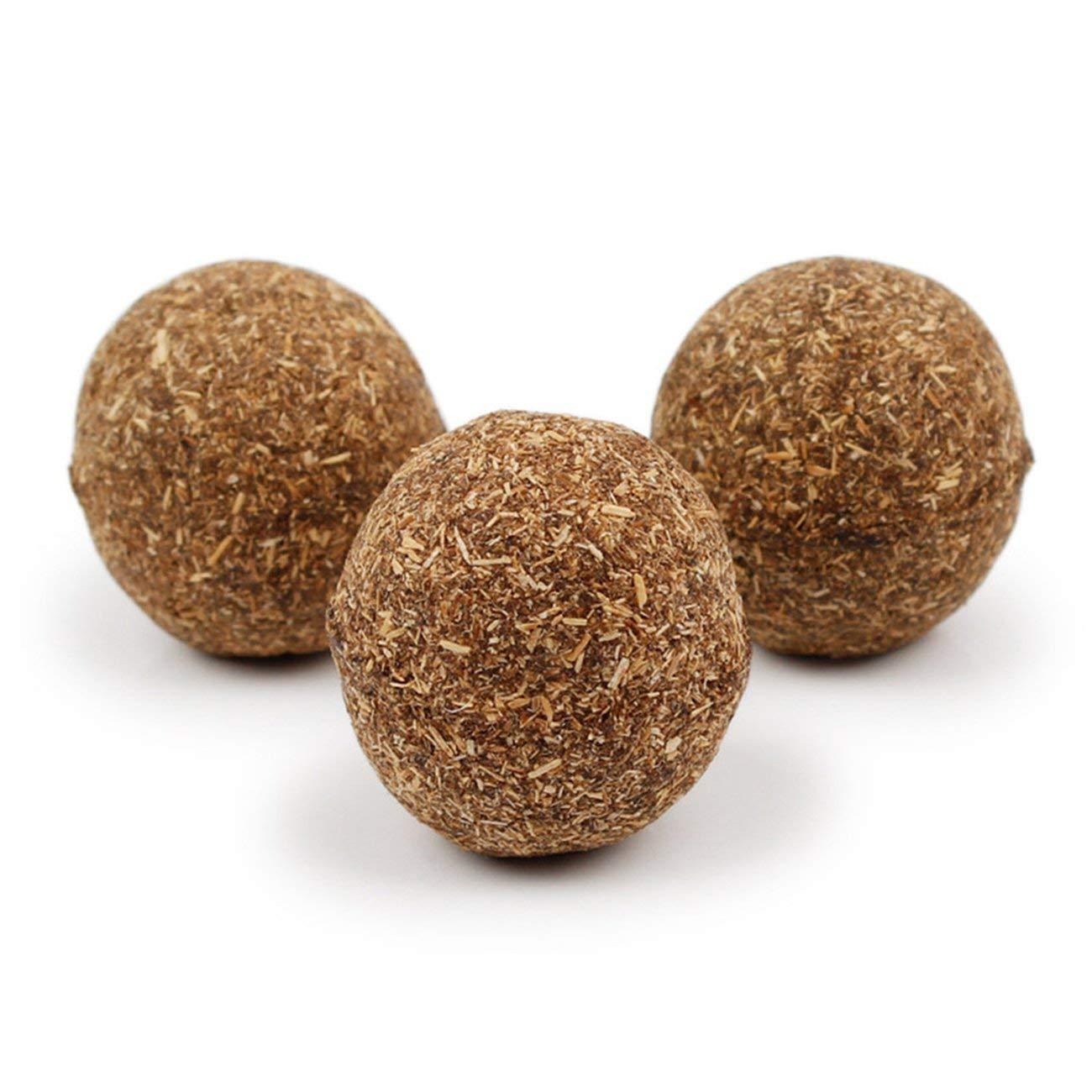 JIUY Especial para Gatos eMove la QFT204 Bola de Pelo Bola de Hierba gatera (marrón)