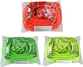 maDDma  6m Endlos-Reißverschluss 5mm mit 15 Zippern und Endstücke, Neonfarben Farbwahl
