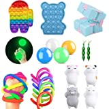 iSayhong Sensory Fidget Toys Set, verlicht stress en angst Fidget speelgoed voor kinderen volwassenen, kubus Top Toy Set, spe