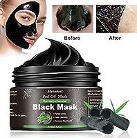 Black Mask, Masque Peel Off, Masque Charbon Point Noir, Supprime Points Noirs/Acné,Nettoyant en Profondeur Rétrécir...