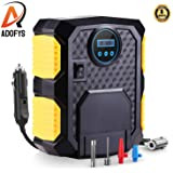 Adofys Digital Car Tyre Inflator - 12V DC Portable Air Compressor with LED Light with Multiple Nozzles Compatible with All Models of Cars (1 Year Warranty)