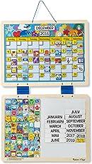 Melissa & Doug Monthly Magnetic Calendar, Multi Color
