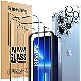 Kiewhay Schermbeschermer Compatibel met iPhone 13 Pro Max Screen Protector 6,7'', 3x Gehard Glas +2x Camera Lens Protector, [