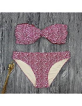 Moderno y cómodo bikini _ moderno e bikini cómodo dividir rojo bañador, rojo ,S