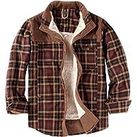 Mr.Stream Camicia da Uomo in Stile Casual da Boscaiolo Plaid Flanella A Quadri Camicia Imbottita da Lavoro di Cotone…