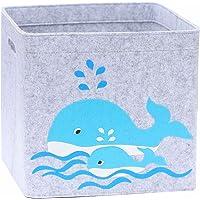 Lucky Sign - Boîte de Rangement Enfant Panier à Jeux pour Fille et Garcon Bac à Jouets Chambre Bebe, 33x33x30cm…