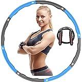 iAmotus Hula Hoop, Gym Hula Hoop Vikbar Fitness Wave Viktad 1 kg (2,2 lbs) Avtagbar 8 sektion med hopprep Present för viktträ