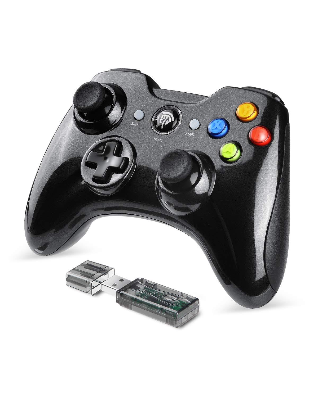 EasySMX Mando Inalámbrico, [2019 Versión] 2.4GHz Mandos PS3 Batería de Litio Incorporada, Gaming Controller Gamepad Joystick con Doble Vibración para Windows/PS3/PC/Android/Tablet/TV Box/TV