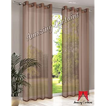 Light Brown Muslin Voile Curtain Fabric 150cm Width