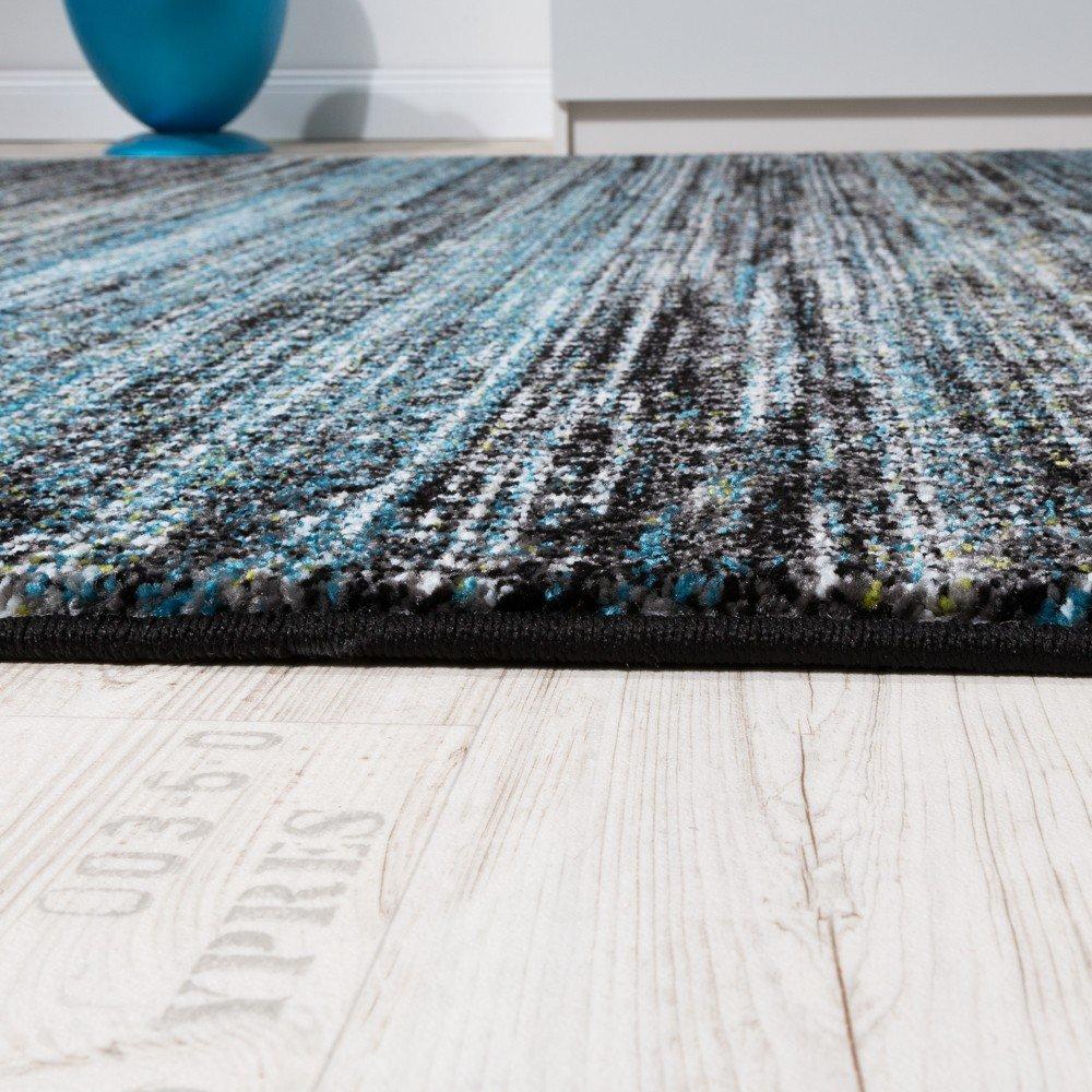 teppiche modern wohnzimmer teppich spezial melierung türkis grau ... - Wohnzimmer Modern Turkis